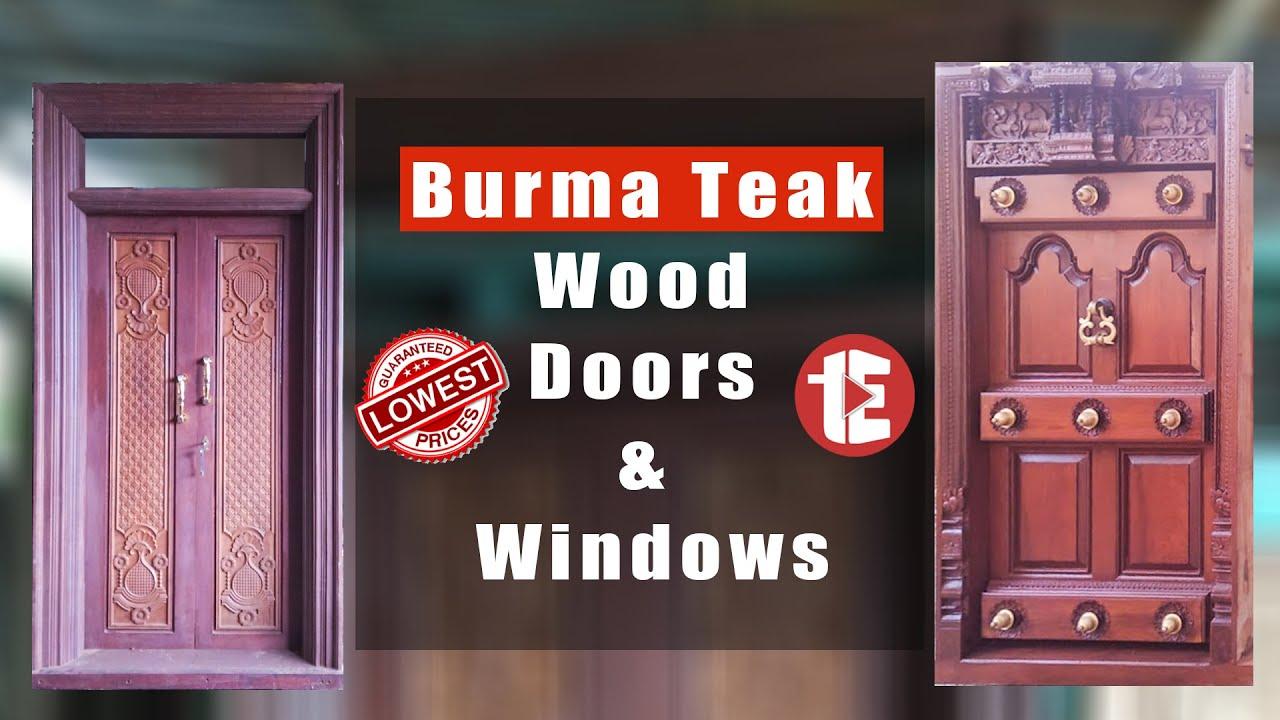 Burma Teak Wood Doors & Windows @ Lowest Price, Wholesale and Retails Wooden Doors.