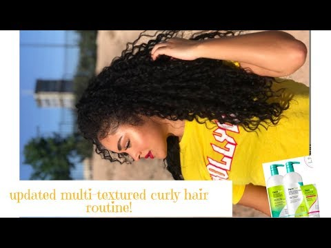 UPDATED MULTITEXTURED CURLY HAIR ROUTINE - Testing out Deva Curl