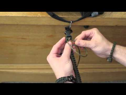 How to tie a 2 color paracord bracelet without melting the cords together