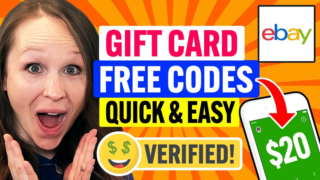 💳 Ebay Gift Card Codes 2021: Redeem FREE Credit Quick & Easy in 2 Minutes! (100% Works)