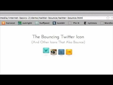 How to Make a Bouncing Twitter Icon : Internet Tips & Basics
