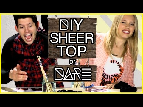 DIY Crop Top with Tights?! | DI-Dare w/ Gracie Dzienny & Hunter March