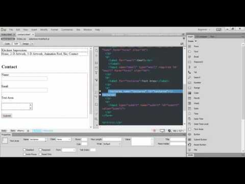 Adobe Dreamweaver CC Creating a Contact Form