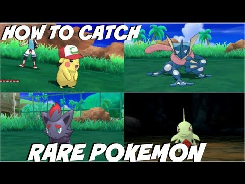 HOW TO CATCH RARE POKEMON ZORUA,LARVITAR,ASH PIKUCHU,ASH GRENINJA & MORE POKEMON ULTRA SUN AND MOON