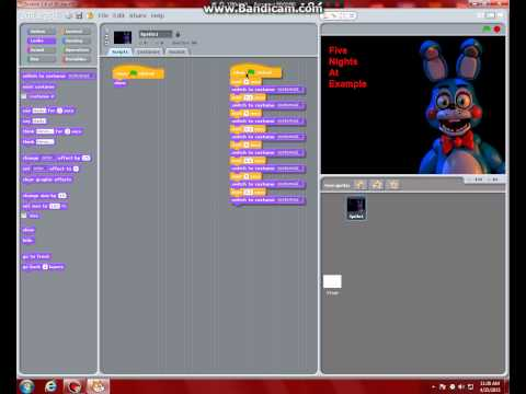 How to make a BASIC FNaF Fan-Game In Scratch 1.4 Part 1 - Title Screen
