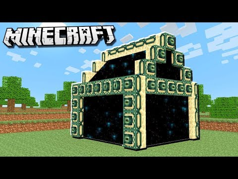 Make an END PORTAL House in Minecraft!