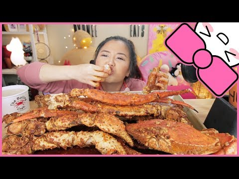 KING CRAB LEGS and DUNGENESS CRAB | MUKBANG