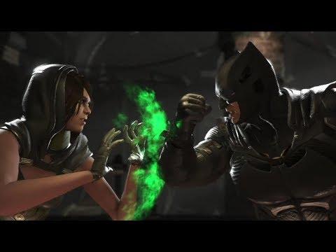 Injustice 2 : Enchantress Vs Batman & Superman - All Intro/Outros, Clash Dialogues, Super Moves