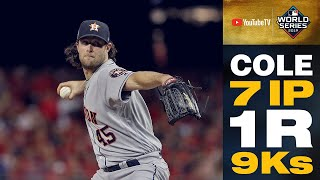 Gerrit Cole comes up HUGE for Astros with dominating performance (7 IP, 1 R, 9 Ks) | MLB Highlights