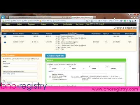 BNO Registry - Creating FedEx Shipping Labels