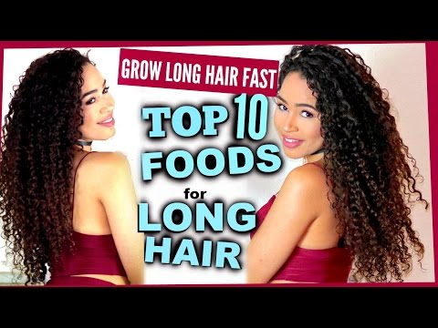 10 FOODS TO GET LONG HEALTHY HAIR FAST | How to make your hair grow! Lana Summer
