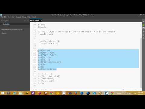 Advanced JavaScript - Day 1
