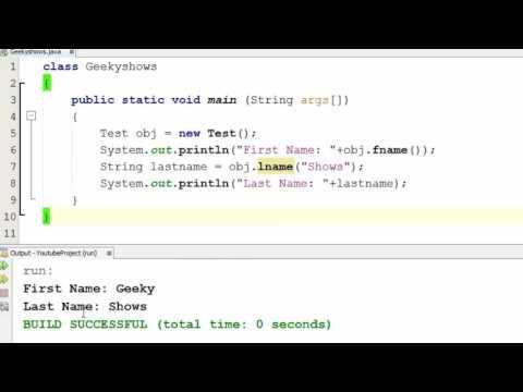 60. Method Returning String in Java Programming (Hindi)