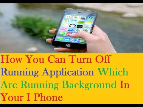 How To Close Application In I Phone !!!  Turn Of Running Application