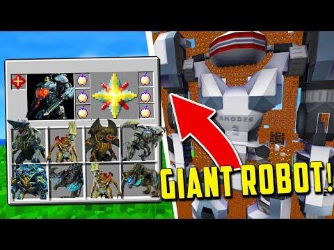 NEW GIANT ROBOTS VS KAIJU! Minecraft Modded PACIFIC RIM UPRISING MOD