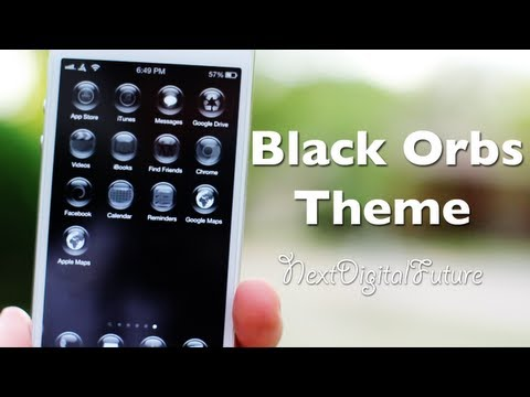 ►How to theme iPhone without Jailbreak -- Black Orbs Theme review