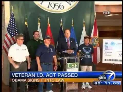President Obama Signs Buchanan Veterans ID Card Act into Law
