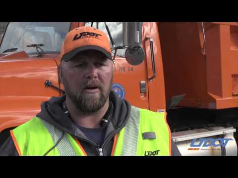 UDOT snow plow drivers work around clock to keep traffic moving