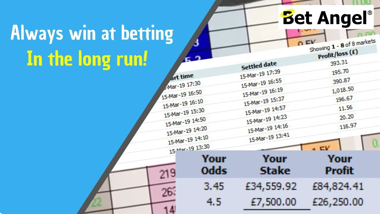 Betting strategy that works - How to always win at betting in the long run