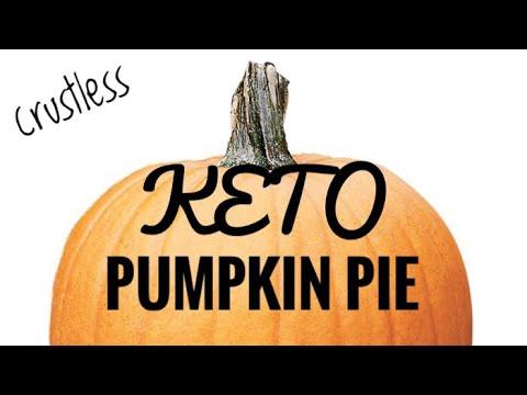 Keto pumpkin pie (crustless)