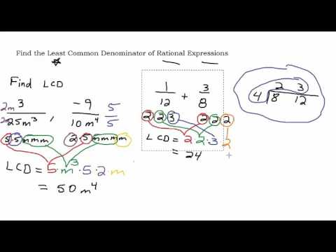 Find the Least Common Denominator LCD of Rational Expressions