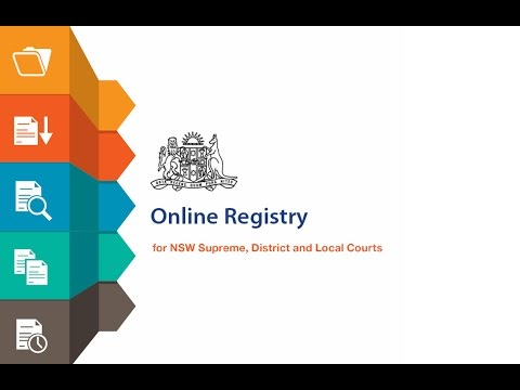 NSW Online Registry - How to file a Statement of Claim online
