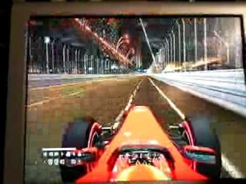 Fast lap with Ferrari in Singapore F1 2011 Xbox 360