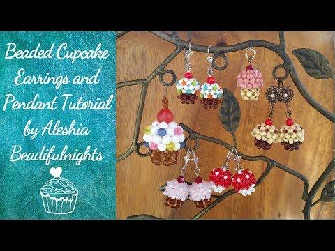 Beaded Cupcake Earrings and Pendant Tutorial