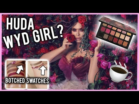 HUDA BEAUTY TRIES IT! ⎮ BOTCHED ROSE GOLD REMASTERED PALETTE SWATCHES