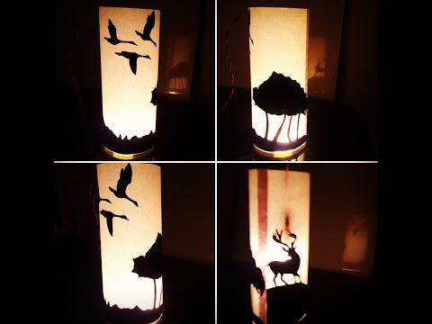 Making Silhouette Lampshade  Chalo Ghar Sajaayen