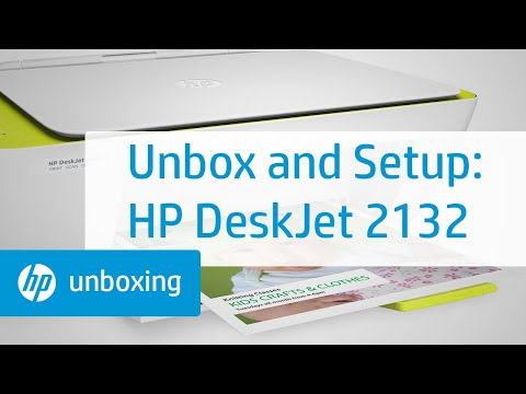 Unboxing, Set Up, and Installation of the HP DeskJet 2132 Printer