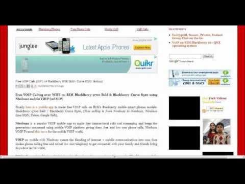 RIM-Blackberry: How to make Free WIFI Voice Calls over BBM (Messenger)