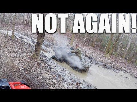 2017 CANAM OUTLANDER 1000 XMR GETS DESTROYED BY MUD HOLE! HUGE ATV ADVENTURE PARK!