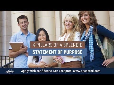 4 Pillars Of A Splendid Statement Of Purpose | 310-815-9553 | Grad School SOP
