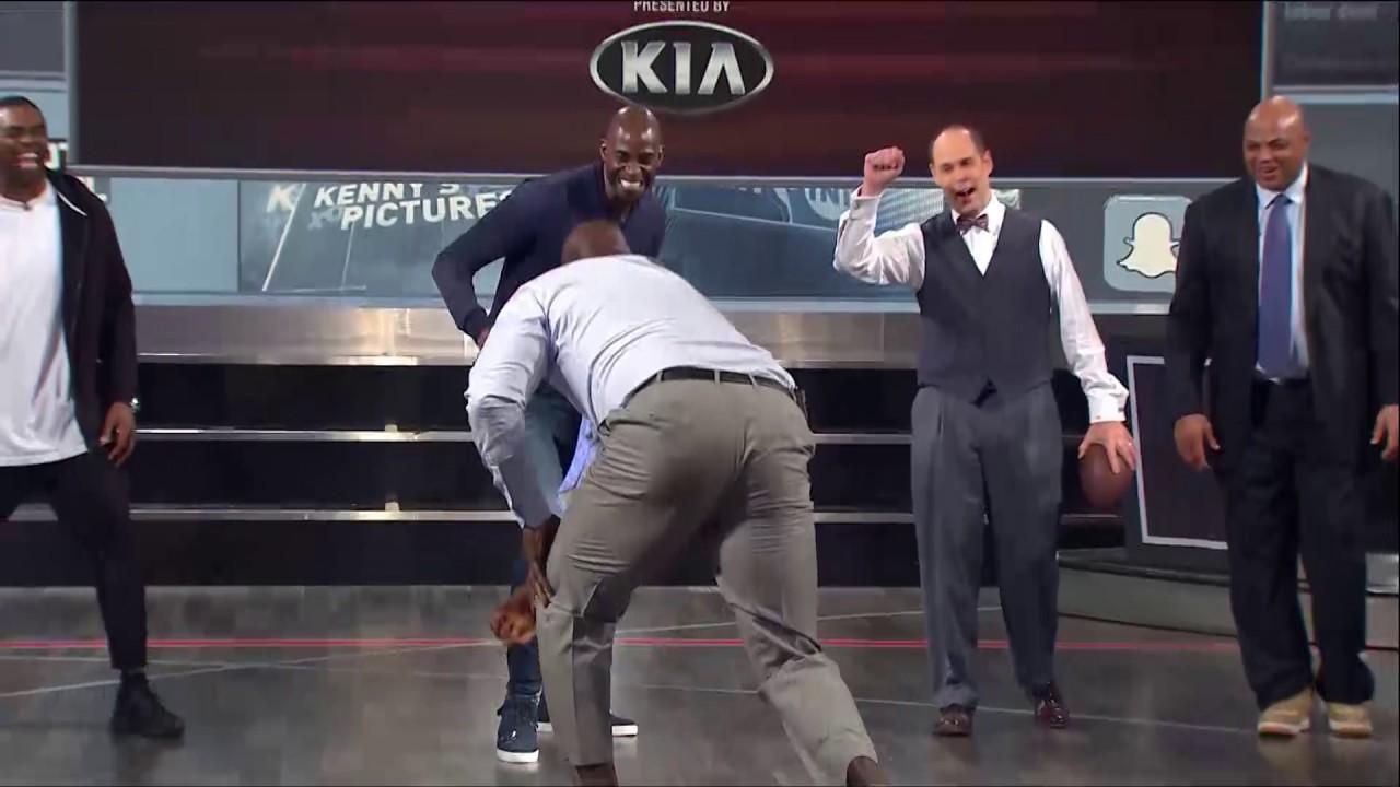 EJ's Neato Stat: Shaq Tackles Charles Barkley   Inside the NBA   NBA on TNT