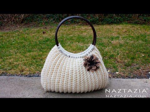 DIY Tutorial Easy Crochet Savvy Handbag Purse Tote - Croche Bolsa Borsa Bag