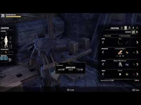 How to Woodwork in Elder Scroll Online (ESO) basics