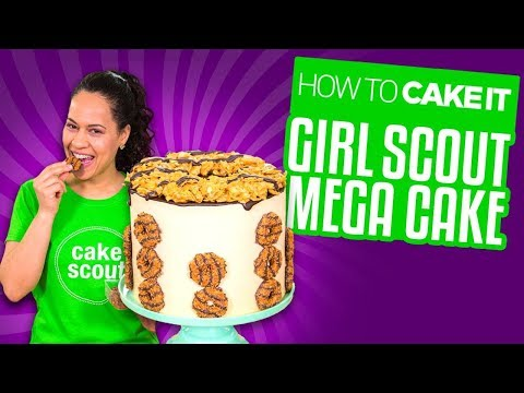 Girl Scout Mega Cake - CARAMEL, COCONUT & CHOCOLATE | Yolanda Gampp | How To Cake It