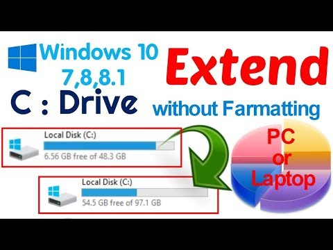 How to increase the Size of C Drive without Formatting in windows 7 (how to Extends C drive)
