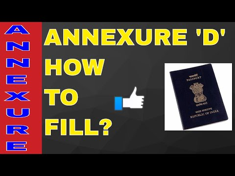 HOW TO FILL ANNEXURE 'D' FOR PASSPORT? ALL INFO WITH SAMPAL! ON YOUR DEMAND!! (HINDI)