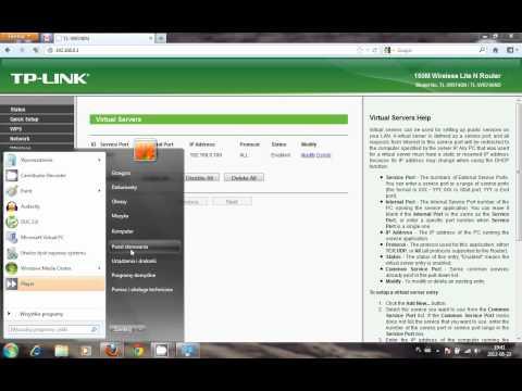 Odblokowywanie portu i routera(tp-link) - Minecraft serwer