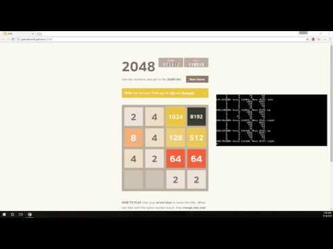 2048 AI achieving 32768 + 16384 + 8192 + 2048 tiles
