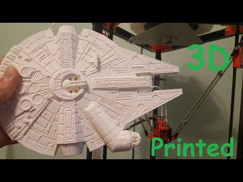 Star Wars Millennium Falcon 3D Printed !!!
