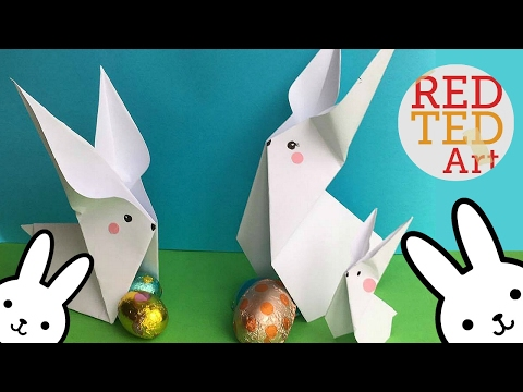 Easy Origami Bunny (2) - Cute & Easy Easter DIYs - Paper Crafts
