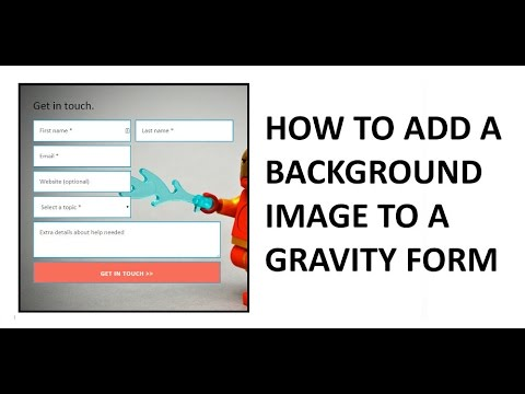 How to add a background image to a WordPress DIV and Gravity Forms
