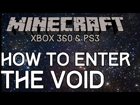 Minecraft: How To Enter THE VOID! (Xbox 360 & PS3) Glitch Tutorial