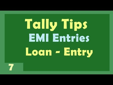 Tally Tips - Purchase Emi-Loan Entry Tally | Sales Product Finance Adjustment