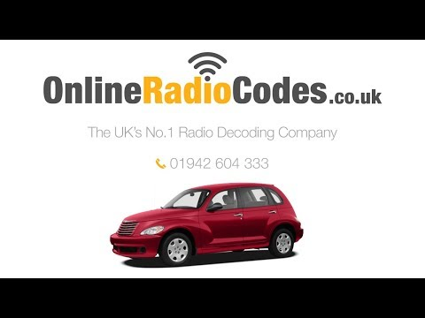 🚗 Chrysler PT Cruiser Radio Code Unlock Your Stereo With The PIN Decode