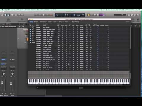 Logic Pro X - Video Tutorial 56 - EXS24 Tutorial (PART 3) Alternating Samples and Velocity Layers