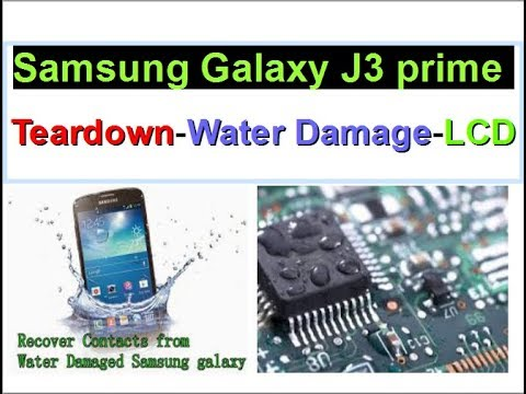 How to do the water damage treatment and replace the lcd screen on samsung galaxy j3